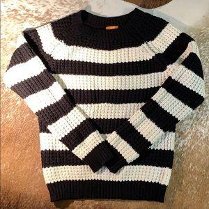 Joe Fresh Black and White Knit Sweater